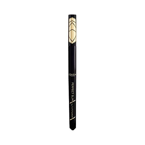 L'Oréal Paris Eyeliner Précision Waterproof Super Liner Perfect Slim Intense, Noir 01 , 1 Unité
