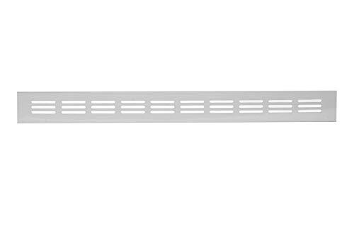 12 x 2 tum/300 x 40 mm vit köksbänkskiva/sockel värmeventilationsgrill aluminium