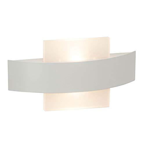 Preisvergleich Produktbild BRILLIANT SOLUTION LED Wandleuchte 25, 5 cm Weiß Eckig