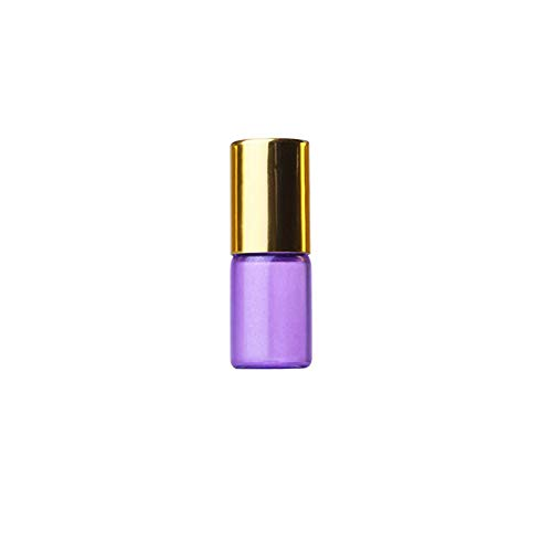iKulilky 3ML Flacon Compte-Gouttes en Verre, Réutilisables Bottle d'or Cover Small Perfume Bottle Bouteille D'huile Essentielle Bouteille de Parfum Bouteille Échantillon Bouteille Test
