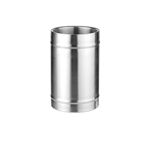 Conveniente Cubo De Hielo De Acero Inoxidable, Cubo De Hielo De Doble Aislamiento Térmico, Cubo De Hielo De Cerveza De Vino De Champán, 2L / 3L (oro, Plata) aislado ( tamaño : Straight Silver 2L )