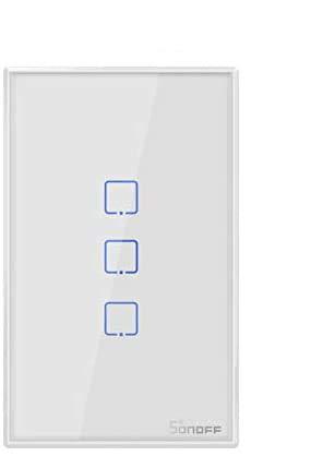 yunlink Sonoff T2 US 3Gang Smart Touch Luce Interruttore Intelligente WiFi RF 433mhz Timing Countdown Interruttore della Lampada da Parete di Controllo remoto