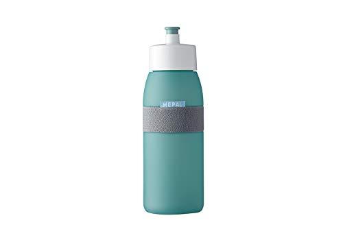 Mepal Sporttrinkflasche Ellipse Nordic green – 500 ml Inhalt – praktische Wasserflasche für Sport und Freizeit – weiches herausziehbares Mundstück – spülmaschinenfest