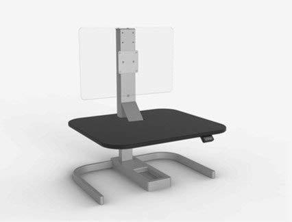 debout Desk–Evodesk XE–Réglable Desk–Bouton poussoir Hauteur réglable ergonomique de bureau (Noir Bois recyclé Cadre argenté)