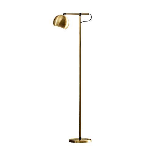 ZGP-LED Luces de Piso Americana Lámpara de Oro de la Sala Dormitorio Simple nórdica Creativo Moderno Mesita de luz de la lámpara Vertical Hotel Home lámpara de Mesa Decoración Nivel de energía [A ++]