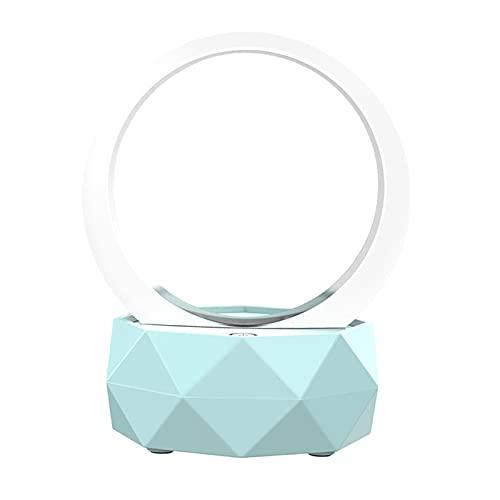MagiDeal Altavoces Inalámbricos Bluetooth 5.0 LED 1500mAH 7 Colores para Viajes a Casa - Azul