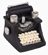 HoneyCare Retro Mini Handmade Classic Handicrafts Typewriter,Retro Classic Collection Decoration,Old Prop Antique Model Dollhouse Garden Ornament Decoration (Typewriter)