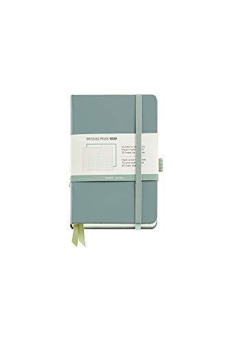 Miquel Rius – Cuaderno Bonito de Notas, Cubierta Rígida Símil Resistente, Cierre Goma, Tamaño 140 x 90 mm, 192 Páginas…