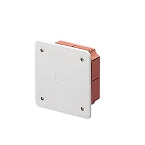 Cassetta derivazione incasso EC350 con coperchio bianco IP40 (92 x 92 x 45 mm)