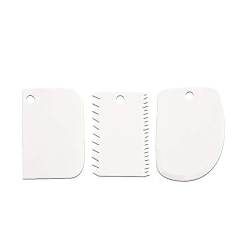 Backwerkzeuge Kuchen Dekorieren Tisch Runde Flach Kunststoff Kuchen Plattenspieler Kuchen Plattenspieler Spatel/Plattenspieler-Weiß BCVBFGCXVB