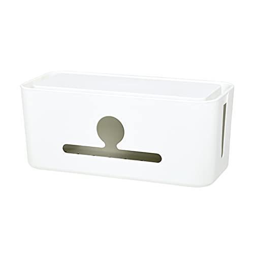 Caja de administración de cables Adaptadores de enchufe del cargador Tiras de alimentación Estuche de almacenamiento de cables Organizador de escritorio con contenedor oculto con soporte para teléfono