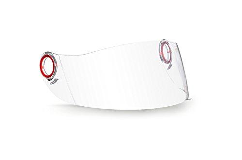SOXON Visiera per casco integrale da moto–SP-325 SP-888 SK-55 ST-666 ST-550 SF-99–Trasparente Scura Cromata