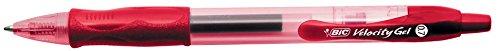 BIC 094562 - Penna a Sfera a Scatto Velocity Gel 0.7 mm Rosso