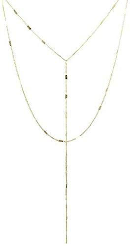 WYDSFWL Collar Collar de Bucle doblado Femenino Collar