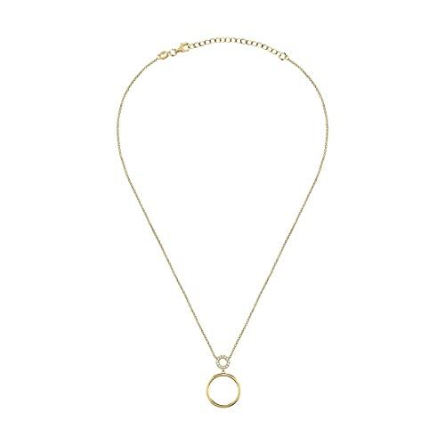 Bluespirit Collar de mujer en plata de oro 925, circonitas, colección Essential - P.57R210000300