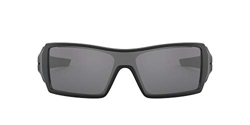 Oakley Men's OO9081 Oil Rig Shield Sunglasses, Matte Black/Black Iridium, 65 mm