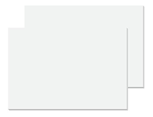 Sigel HO300 2er Pack Weiße Papier-Schreibunterlagen, Malblock, ca. DIN A2 - extra groß, 30 Blatt, 80 g
