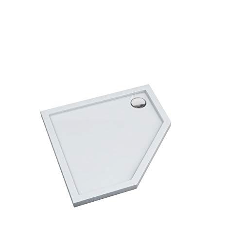 Duschtasse Duschwanne Bad Dusche Acrylwanne Acryl Quadrat Rechteck flach Senta (Fünfeck 90x90x5)