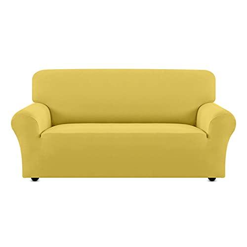 QYSM 10 Colori Solidi Divano Divano Elastica 1 2 3 4 posti Divano Chaise Cover Lounge Elasticizzato (Color : 7, Size : 1-Seat 90-140cm)