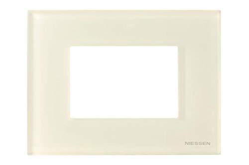 Niessen zenit - Marco 3 módulo caja americana serie zenit cristal blanco