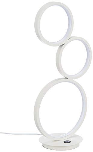 Wofi LED Tischleuchte VIKA, 3-flammig, 15 W, 1400lm, Dimmbar, Warmweiß, Weiß