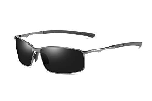 AORON Polarisierte Sonnenbrille Herren Outdoor Sportarten Schutz Brille UV-Schutz Fahrbrille (Grau)