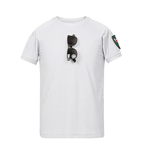 Casuales Camisas Hombre Moderno Holgado Cuello Redondo Color Sólido Hombre Camiseta Verano Única Tendencia Epaulette Diseño Shirt Diaria Casual All-Match Manga Corta F-White 3XL