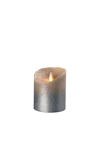 sompex Flame Echtwachs LED Kerze, fernbedienbar, Sand metallic- in verschiedenen Größen, Höhe:10 cm