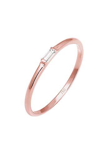 Elli PREMIUM Ring Damen Verlobung Liebe Zart Edel Geo Topas in 750 Roségold