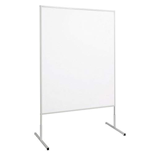 MAUL Moderationstafel Papier weiß, Standard Pinntafel 150x120 cm, Beidseitig auch als Stellwand nutzbar, Standfuß, 6363282, 1 Stück