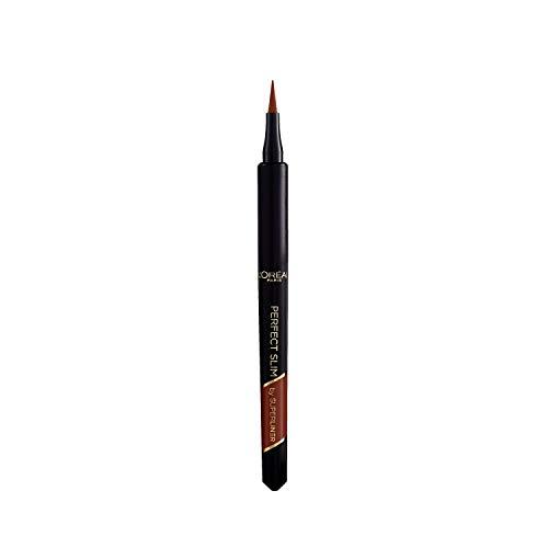 L'Oréal Paris, Delineador Líquido Super Liner Perfect Slim, Marrón Intenso y preciso, Resistente al Agua, 03 Brown