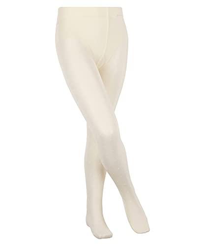 FALKE Kinder Strumpfhosen Romantic Dot - Transparente, Matt, 1 Stück, Weiß (Off-White 2059), Größe: 152-164