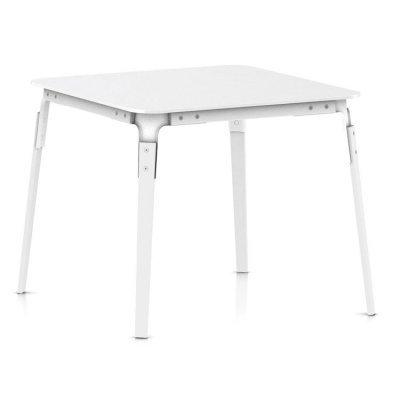 Magis Steelwood Table Tisch 145x145 cm in Weisse mit weißer Platte