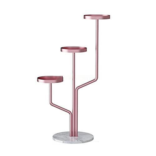 ZHANGJINYISHOP2016 Soporte de flores para balcón, interior y suelo, soporte extraíble para suculentas de hierro forjado, estante simple para plantas de salón (color rosa, tamaño: 100 cm)