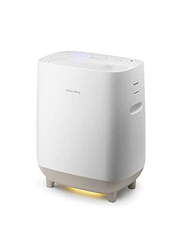COWAY Hue&Healing 2-in-1 Luftreiniger & Luftbefeuchter | Extra leise für Baby- und Schlafzimmer | Entfernt 99,5% der Partikel ab 0,3 µm, Pollen, Bakterien, Schimmel, Viren & Aerosole | Smart Light