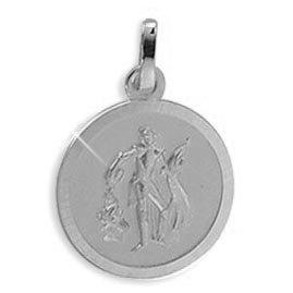 Echt Gold/Silber Heiliger Florian Medaille Patron der Feuerwehr 18mm (213336) Gratis Express Gravur