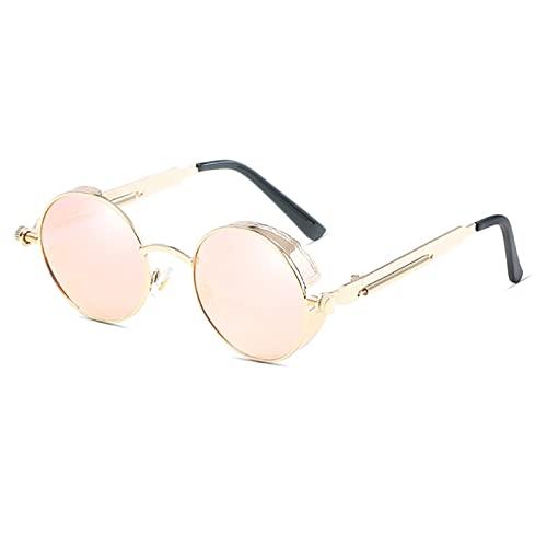 NBJSL Gafas de sol clásicas Polarizadas Hombres Mujeres Vintage Marco de metal redondo Gafas de sol Uv400 (Exquisita caja de embalaje)
