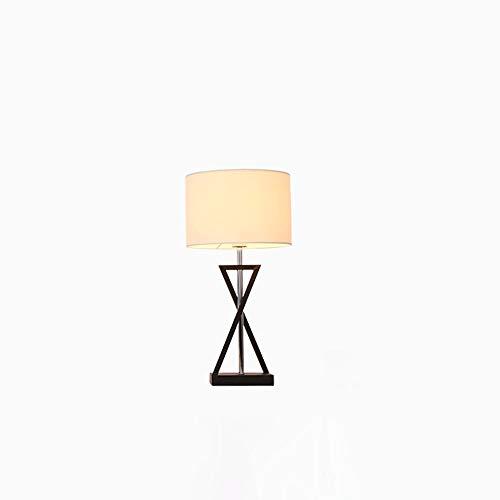 DEPAOSHJ Kühler Lampenschirm Eisen Ring Amerikanische Studie Schreibtischlampe Energiesparend Langlebig Einfache Art und Weise Wohnzimmer Kaffee Schreibtisch Licht Harmlos Rohstoff Schlafzimmer Nachtt