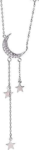 zxcdsaqwe Co.,ltd Collar Dulce Estrella Luna Collar Borla Collares para Mujer Gargantilla Collar Boda