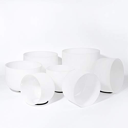 432HZ 7-13 inch Set of 7 PCS Quartz Crystal Singing Bowl Sound Healing Meditation