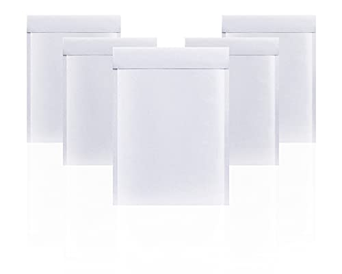 Amiff White Kraft Bubble Mailers 6x9 Padded Envelopes 6 x 9. Pack of 10 Kraft Paper Cushion Envelopes. Peel & Seal. Mailing, Shipping, Packing