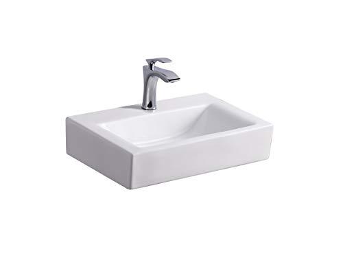 STILFORM Gäste WC Wand Hänge oder Aufsatz Keramik Waschbecken Soho dünner Rand 43 x 30 cm