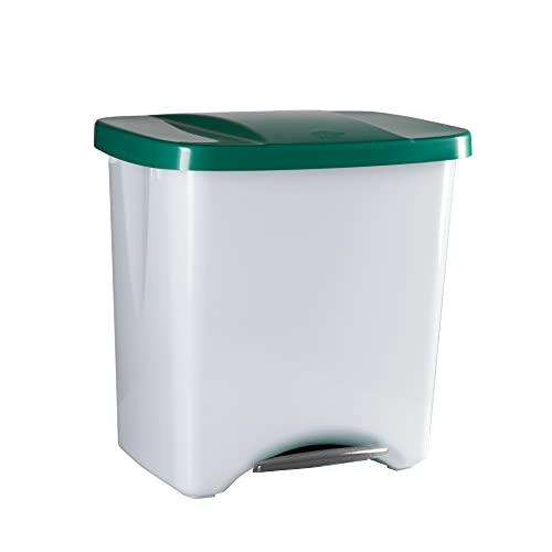 Denox DEN111 Pedalbin Ecológico 50 litros, Verde, 475x360x480 mm, 50