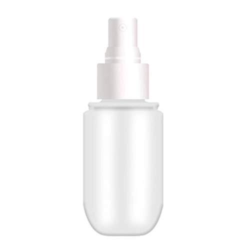 Rechargeables Vaporisateur, bouteille de parfum transparent bouteille de shampooing cosmétique Bouteille liquide Pompe Vaporisateur 40/60 Ml 1pcs (White,40ML)