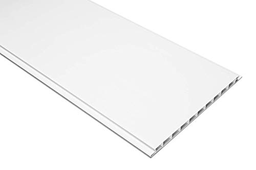 Paneles de 1 m², revestimiento de pared, a elegir, 200 x 16 cm, HEXIM, PP16-01, color blanco