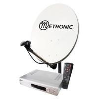 Metronic 428320 - Kit satélite digital FTA + TDT, color negro
