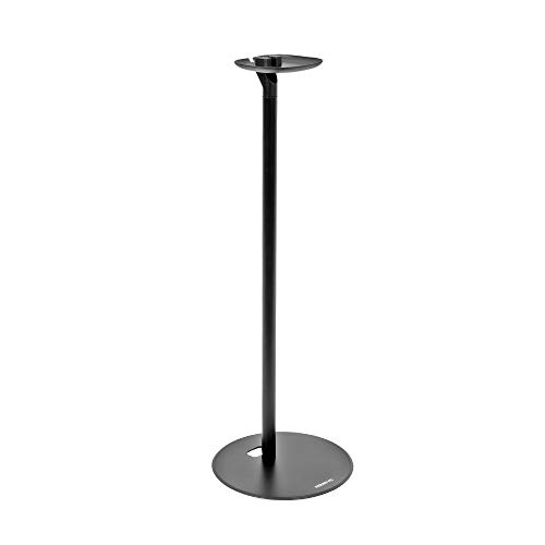 """Mount-It! Speaker Floor Stand for Sonos One, SL, and Play:1 [28"""" Tall] Built-in Cable Management, Lightweight, Minimal, Space Saving, Enhanced Surround Sound (Matte Black)"""
