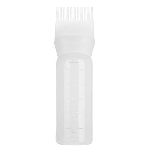 Cepillo de botella para teñir el cabello, champú Herramienta para aplicar el peine del aceite del color del cabello Botella de aplicador Botella de tinte para el cabello Peine de raíz Botellas(Blanco)