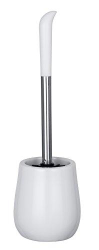 Wenko WC-Garnitur Sydney WC-Bürstenhalter, Keramik, Ø 12, 5 x 39, 5 cm, weiß Glänzend