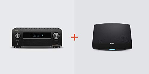 Denon AVR-X4500H Receiver + HEOS 5 Wireless Speaker (Black) Bundle, Model: AVRX4500H+HEOS5BK